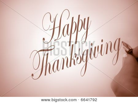 Callligraphy Happy Thanksgiving