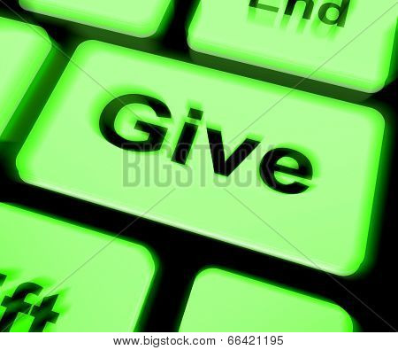 Give Keyboard Means Bestowed Allot Or Grant