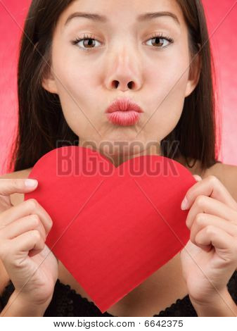 Cute Valentines Day Woman Kiss