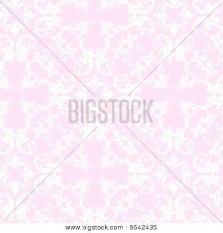 Pink Damask Pattern