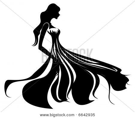 black female silhouette