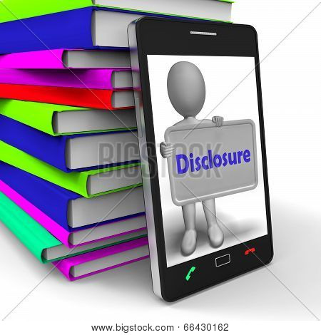 Disclosure Phone Shows Acknowledging Revealing Or Confessing
