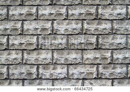 Hewn Gray Brick Wall