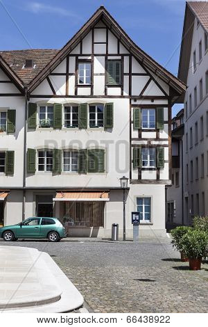 Half-timbered Swiss House
