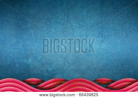 Blue And Red Unique Waves Abstract Background Design