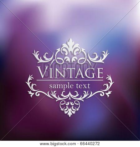 Royal Vintage Design in editable vector format