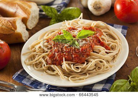Homemade Spaghetti With Marinara Sauce
