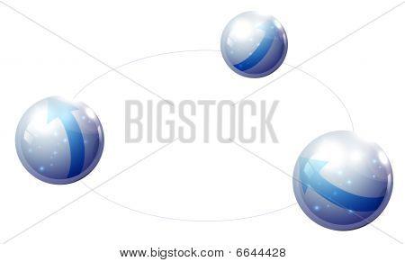 ball with blue arrow