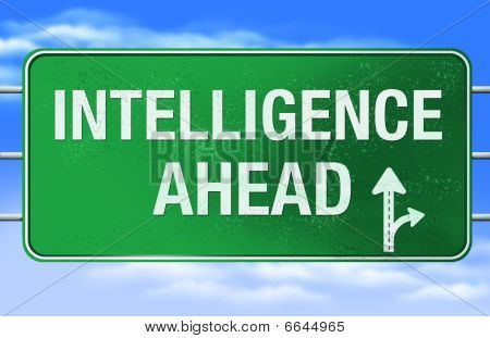 Intelligence Road Sign