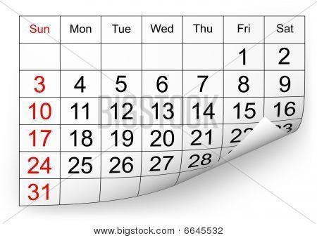 Kalender Januar 2010