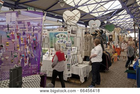 LONDON, UK - MAY 15, 2014: Greenwich market. Famous place to buy an art, crafts, antiques etc.