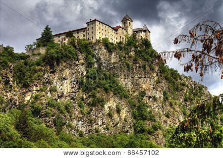 impressive castle on rock, north of Italy
