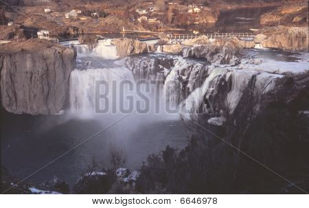 Shoshone Falls in Winter, Idaho