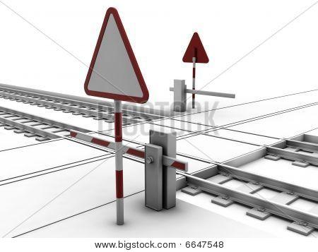 Closed Railway Crossroad