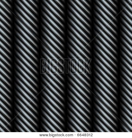 A 3D steel metallic silver wire texture that tiles seamlessly as a pattern. poster