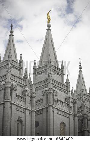 Spires of Mormon Temple