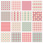 vector cute and trendy vector seamless patterns for colored backgrounds poster