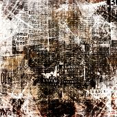 Grunge abstract newspaper background for design with old torn posters poster