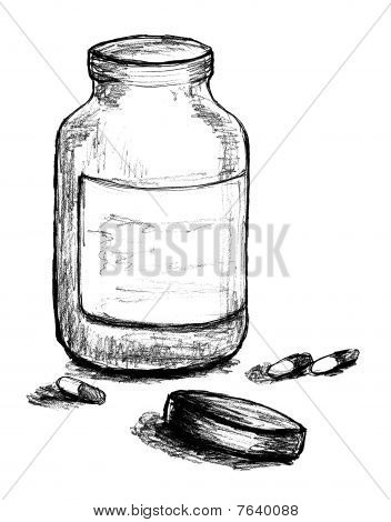 Pill Bottle Illustration