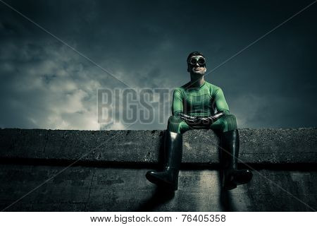 Superhero Looking Away