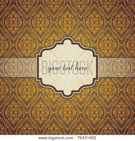 vintage vector postcard consist of tracery patterns. Vector illustration poster