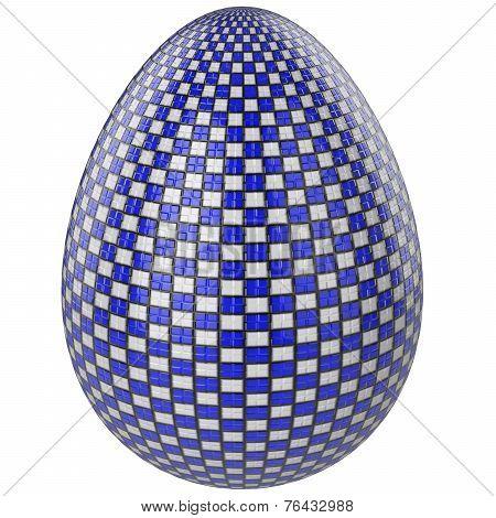 Easter Egg White And Blue