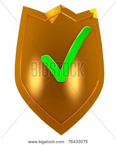 Gold Security Shield