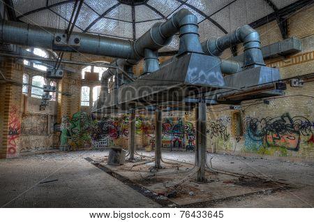Old Kitchen In The Sanatorium In Beelitz