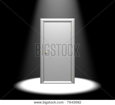 Door In Spotlight