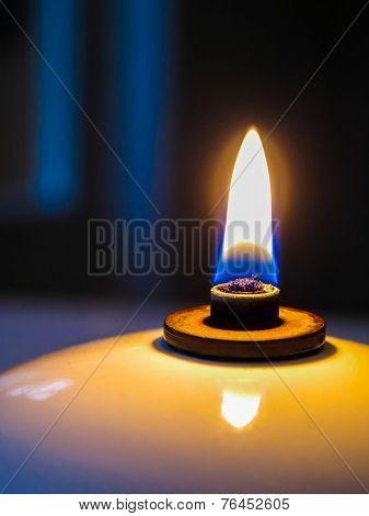 Oil lamp macro close-up