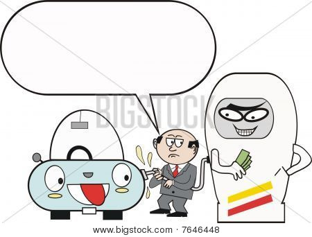 Petrol pump cartoon