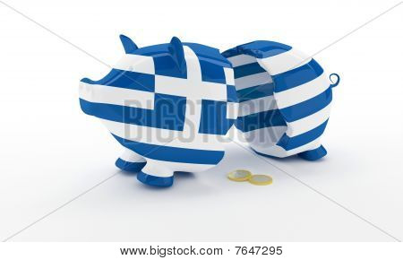 Greek Money Box Break