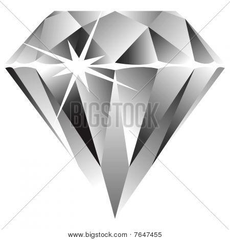 Diament przeciwko biały