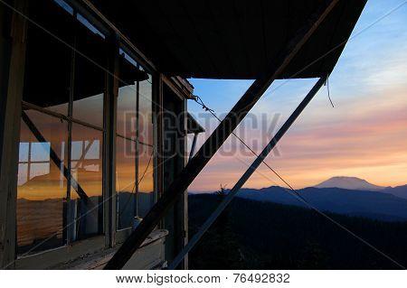 Burley Mountain Fire Lookout near Mount St. Helens