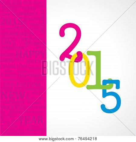 Creative greeting for New year 2015
