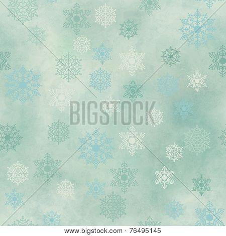 Wrapping Vintage Paper Snowflake Seamless Pattern
