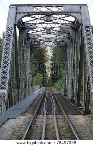 Lonely train bridge