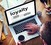Digital Online Dictionary Meaning Loyalty Concept poster