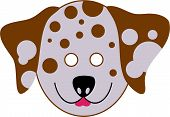cutout animal mask for kids to wear poster