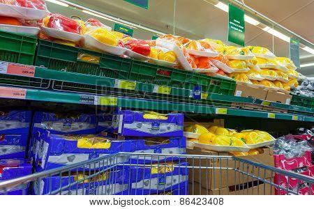Fresh Vegetables Ready For Sale In The Hypermarket Metro