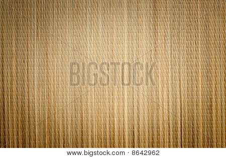 Bamboo Mat Background With Vignette