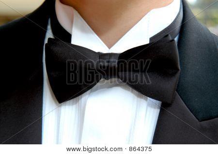 Tuxedo Tie on Prom Night