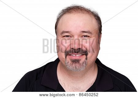 Smiling Happy Middle-aged Man
