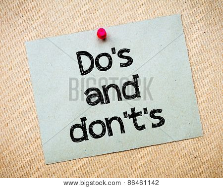 Do's And Don't's
