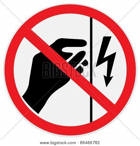 Danger, high, voltage, do not touch, sign