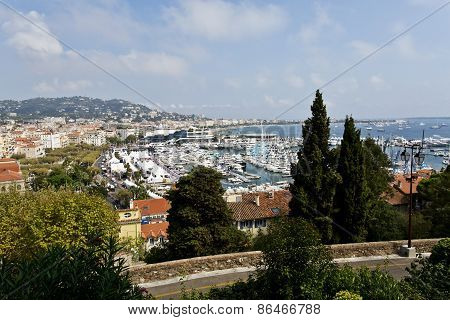 View Of The Old Town And Port Of Cannes