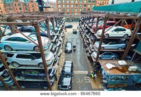 Multi-level Parking Garage In New York City