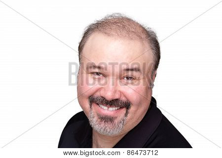 Genial Middle-aged Man With A Beaming Smile