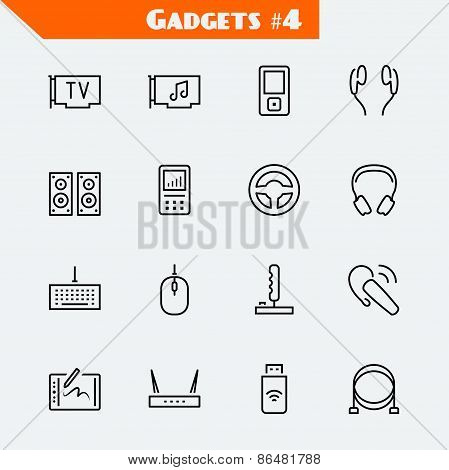 Computer Devices And Gadgets Icon Set