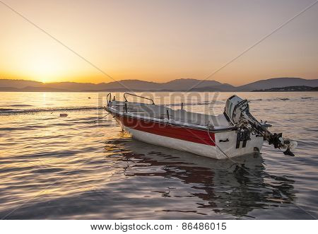 Motor Boat At Dawn